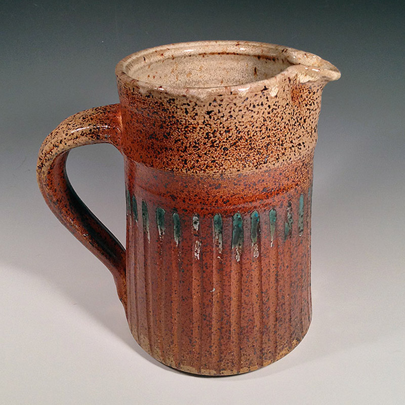 Speckled-Soda-Fired-Pitcher